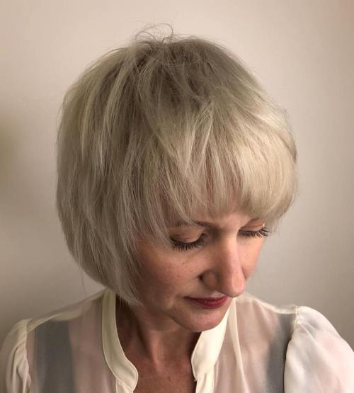 Pageboy Haircut With Wispy Layers