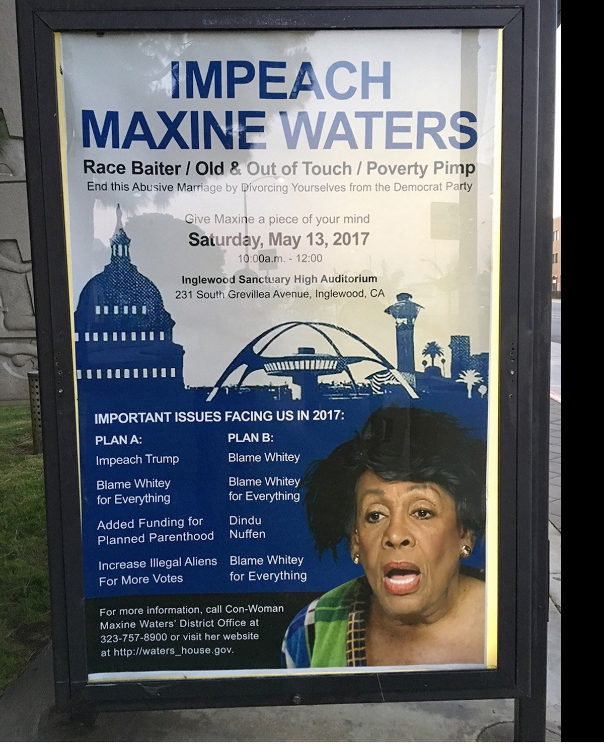 Quotes About Anger And Rage: 'Poverty Pimp' Maxine Waters MOCKED By Street Art In Los