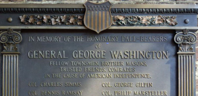 Plaque honoring George Washington to be taken down from church he attended because he is EVIL.