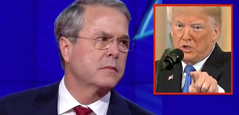 Jeb Bush criticizes Trump and defends…….Jim Acosta