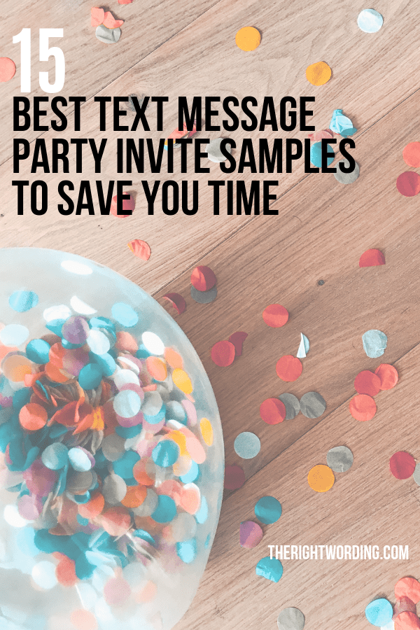 text message party invitations samples