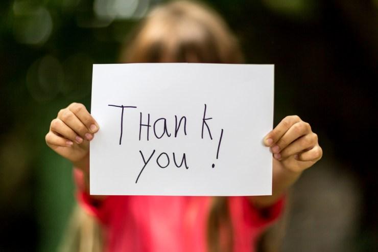 ways to say thank you for being there