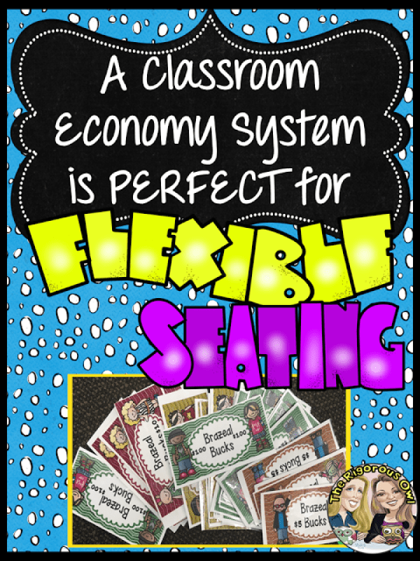 Learn how a classroom economy system is perfect for the flexible seating classroom!