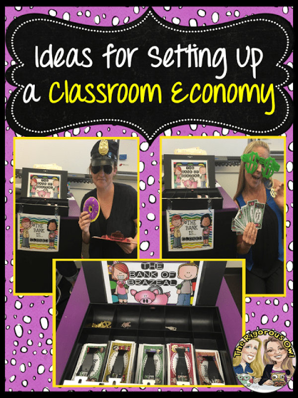Ideas for setting up a Classroom Economy System