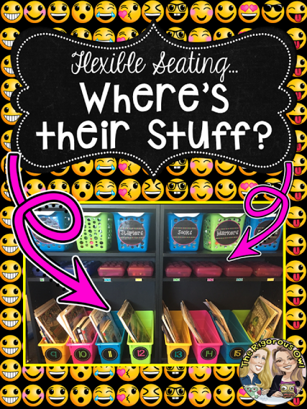 Learn where to keep student supplies in the Flexible Seating Classroom!