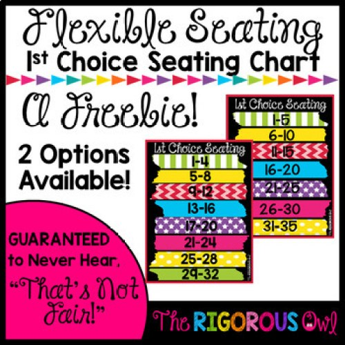 Grab this 1st Choice Seating Chart for Your Flexible Seating Classroom HERE!