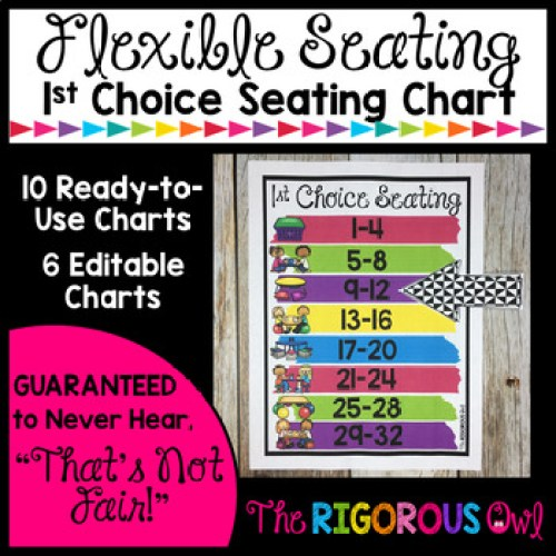 Grab this EDITABLE 1st Choice Seating Chart for Your Flexible Seating Classroom HERE!