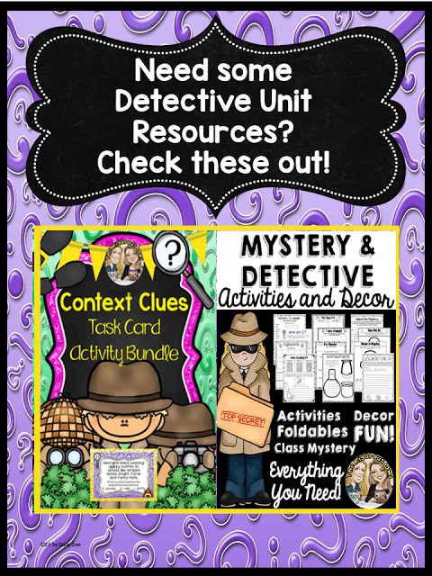 Need some Detective and Mystery Unit Resources? Check this out!
