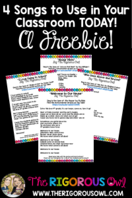 Calling all teacher who want to add music to their classrooms but don't know where to start!!!! We have just the thing for you....lyrics to 4 songs FREE just for you! Check it out!