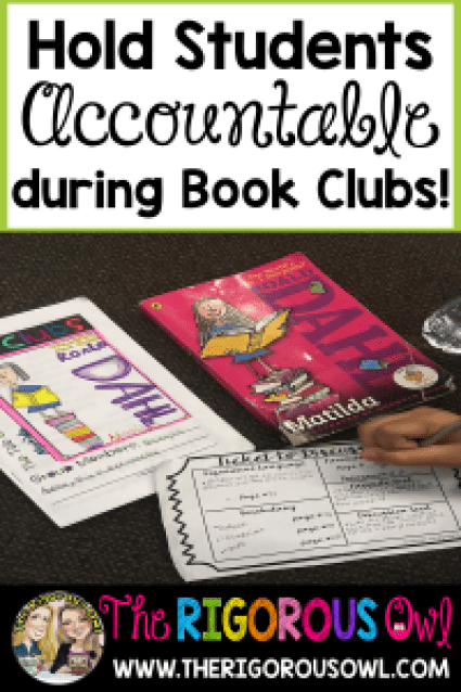 Students need to be held accountable during Book Clubs. Find out how we do it here!