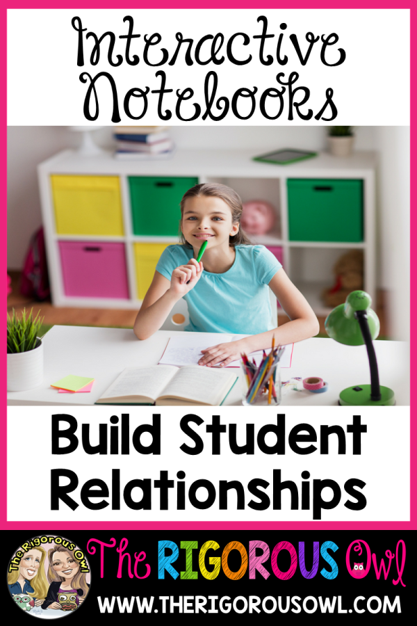 Interactive Notebooks build student relationships. Find out how here!