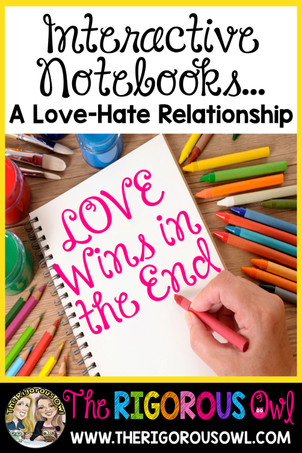 Interactive Notebooks... A Love-Hate Relationship. Which will win? Find out here!