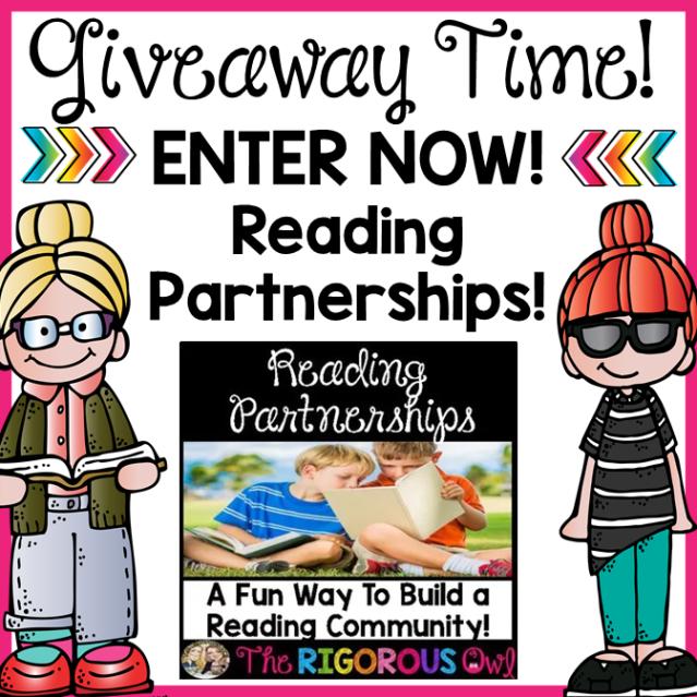 Reading Partnership Activity Bundle GIVEAWAY!