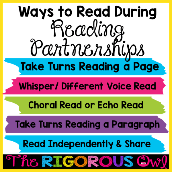 Find out all about the different ways to read during Reading Partnerships HERE!