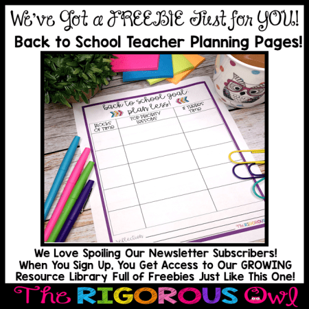 FREEBIE ALERT! Grab these Back to School Teacher Planning Pages by Subscribing to our Newsletter!