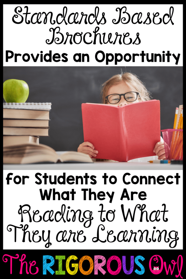 Standards Based Brochures Connect Reading to Learning