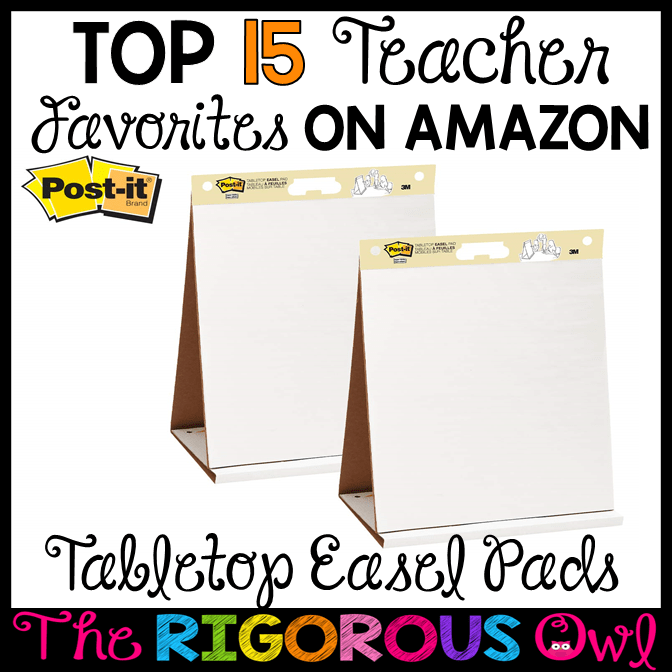 Tabletop Easel Pads from Amazon