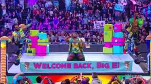 The New Day's Big-E Returns To SMACKDOWN LIVE, But He's Still Not Cleared To Compete