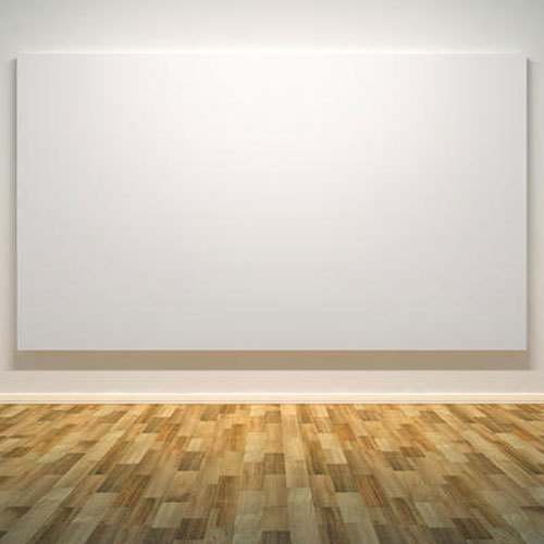 A blank canvas which the poet describes to be the best form of art