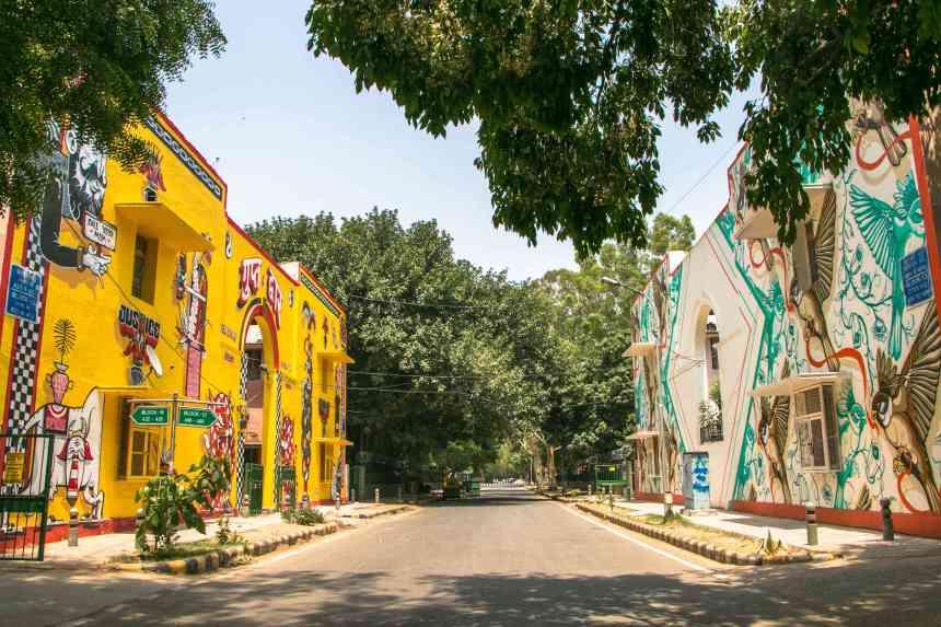 delhi graffiti art in the city