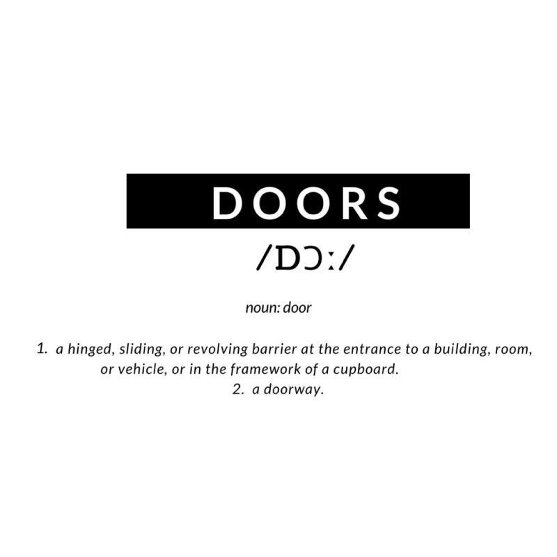 redefining Doors beyond new beginnings: Redefinition