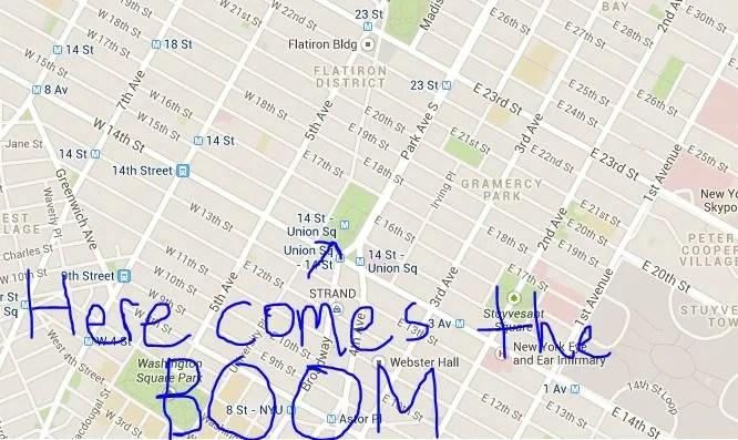 union square boom