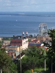 View of Duluth from up the hill.
