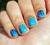 #31DC2015 - Blue Waterfall #nailart | The Rite of Aging