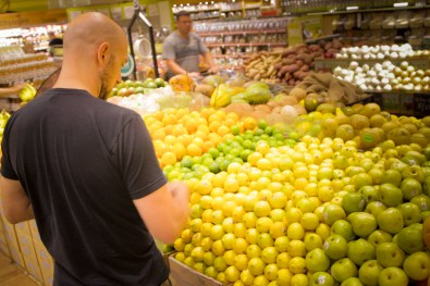 Lemon Shopping for the A-1 Pick-Me-Up Cocktail