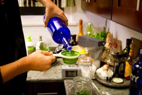 DIY Creme de Menthe, Part 4: Adding Vodka