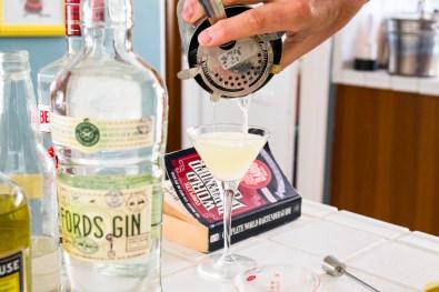 Alaska Cocktail - Straining