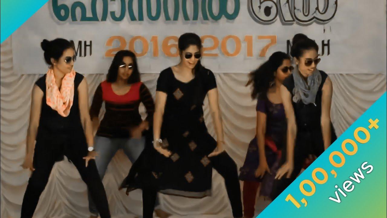கேரள கல்லூரி விழாவில் செம்ம டான்ஸ் போட்ட கல்லூரி பெண்கள்