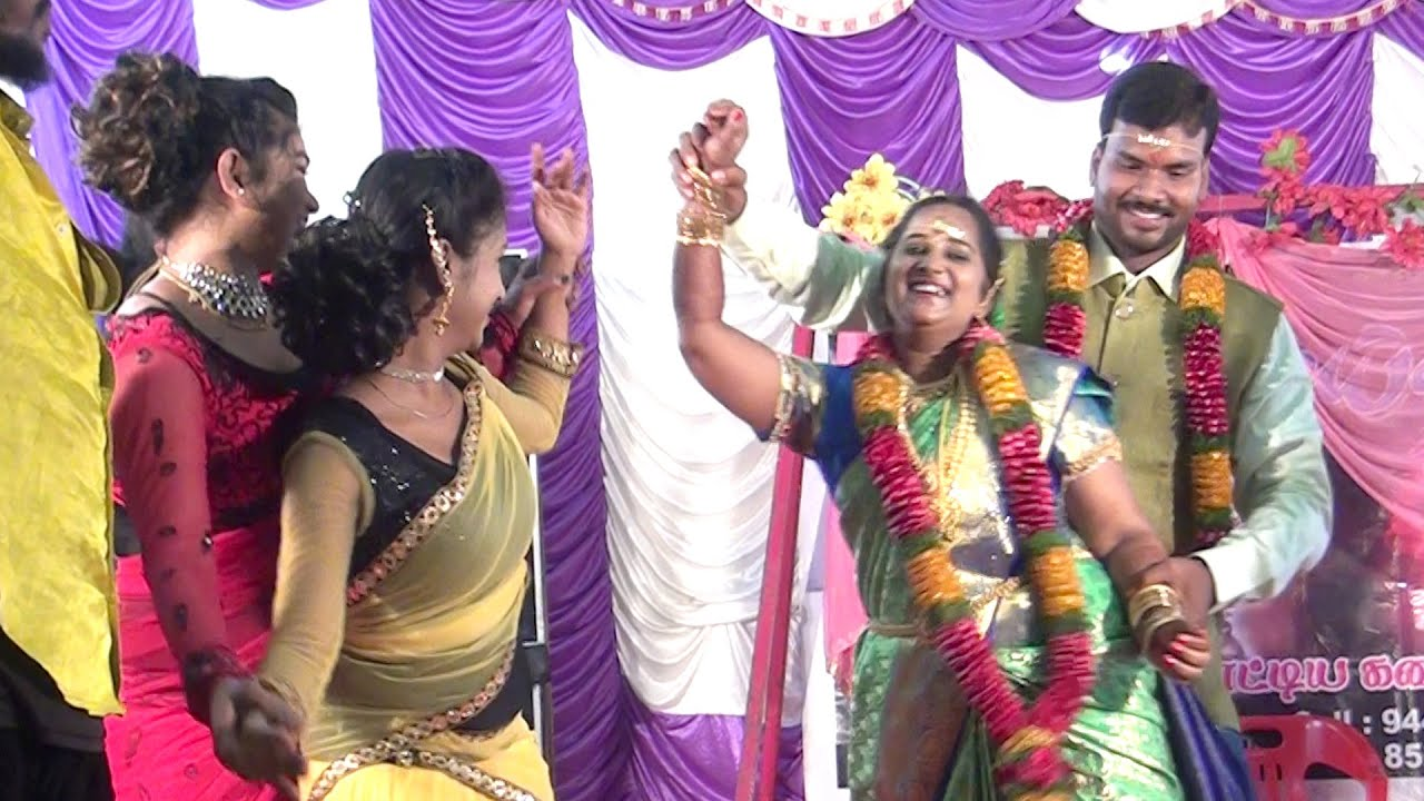 திருமண வரவேற்பில் மணமக்கள் போட்ட டான்ஸ்