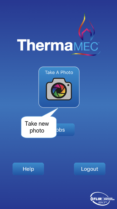 Thermafy user guide, take new photo button.