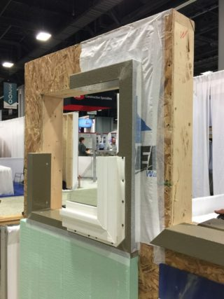 Greenbuild 2015 Expo close up of ThermalBuck wall section detail