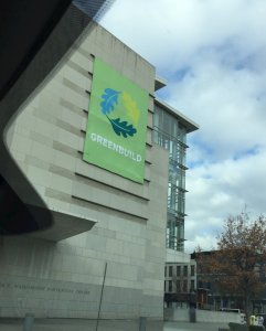 Greenbuild Banner on exterior of Convention Center in Washington, DC