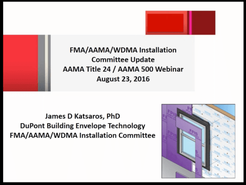 AAMA webinar Installation of Wi