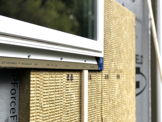 ThermalBuck solves the challenge of mounting windows with exterior insulation by extending the mounting point for windows, and creating a flush plane for cladding.