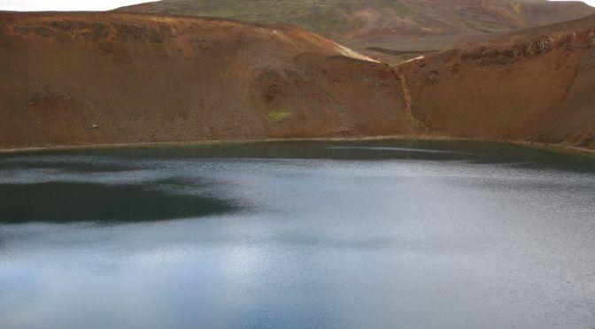 Krafla volcanic area and crater lake Viti (=Hell), Iceland