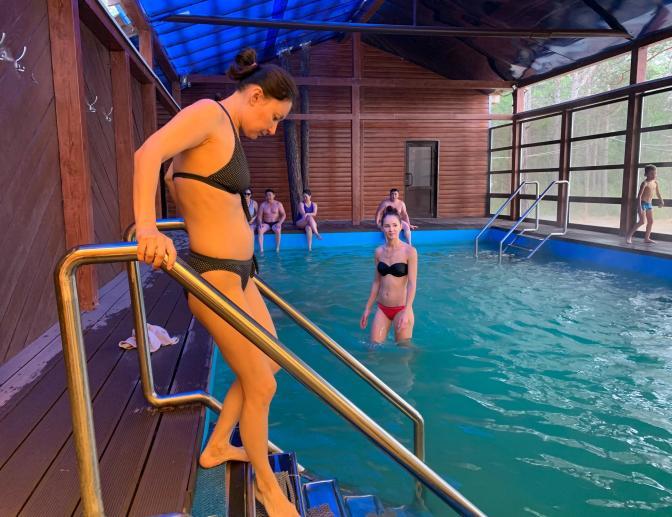 Термальный бассейн Загза Т=52 град., Бурятия