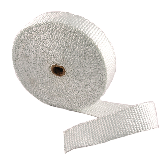 white 2 wide x 1 8 thick high temperature exhaust header wrap
