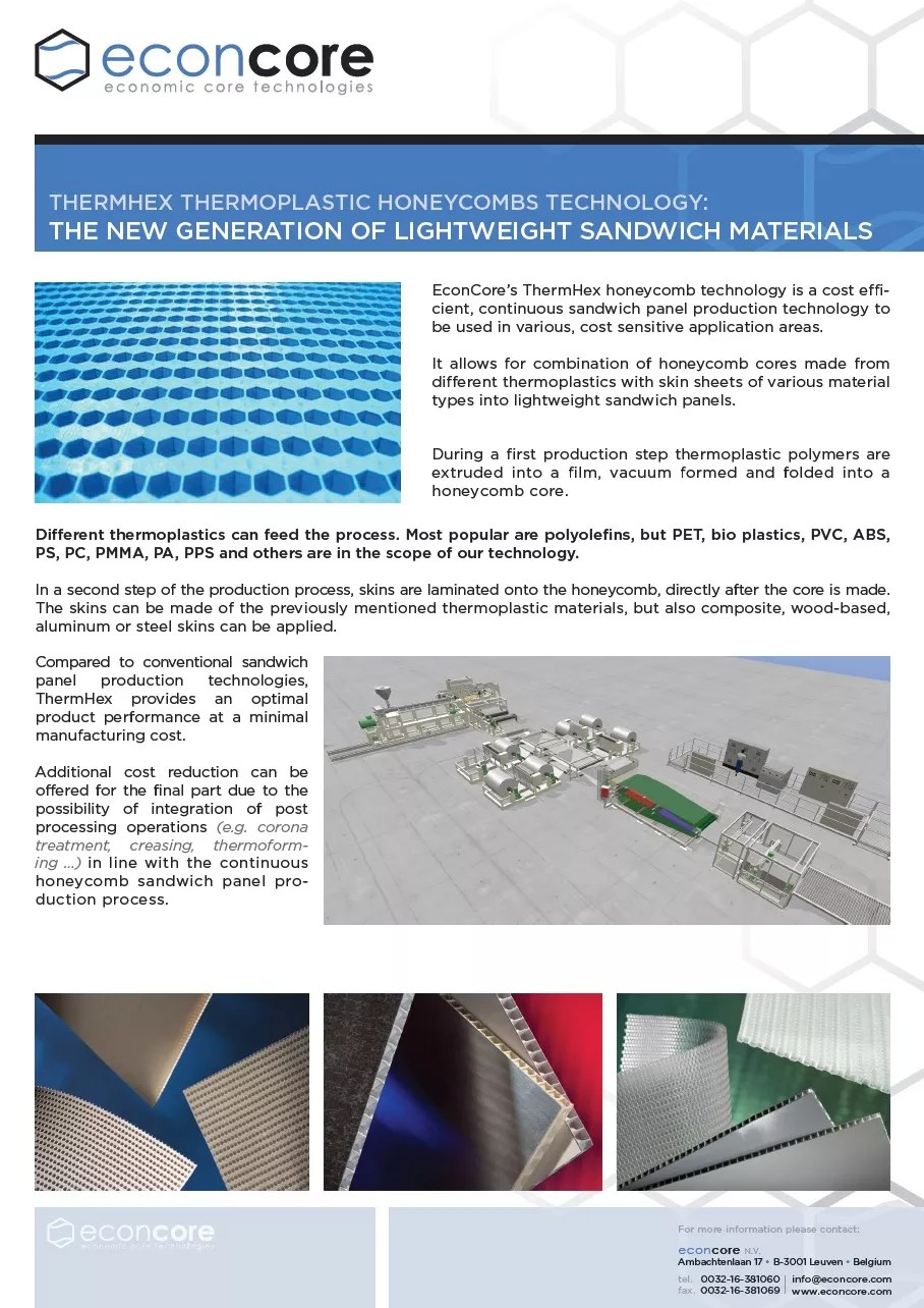 Econcore_leaflet_THERMHEX-technology 4-3-2013 p1 – Thermhex