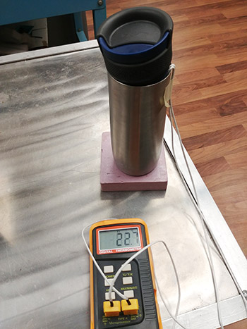 A Calorimeter made from a thermos and a digital thermometer
