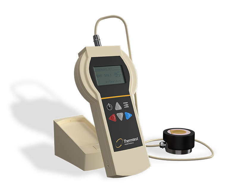 Portable TPS Thermal Effusivity Meter for Fabric Measurement