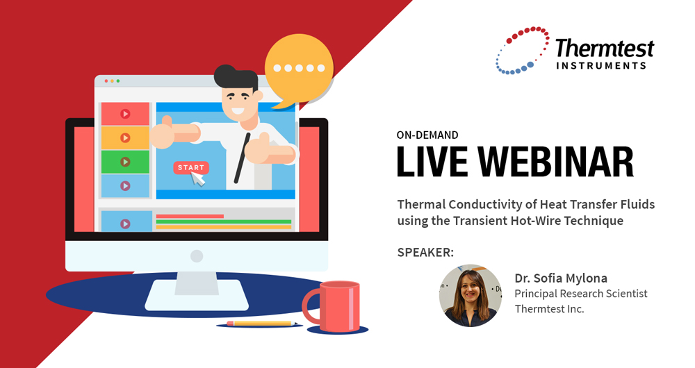 Thermtest Announces New Webinar Series: Thermal Conductivity of Heat Transfer Fluids using the Transient Hot-Wire Technique