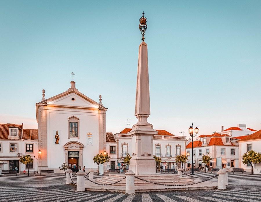 The beautiful small town of Vila Real de Santo Antonio, Portugal