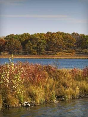 John Muir boyhood home, Fountain Lake (Ennis Lake) in Marquette County, Wisconsin.