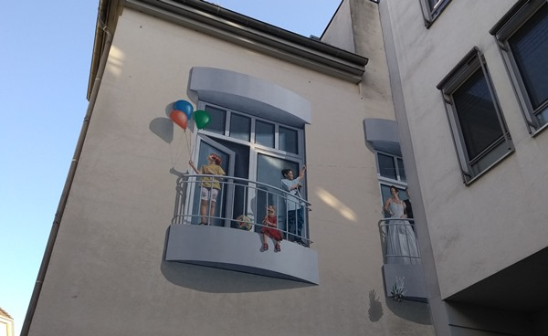 Streetart in Oldenburg: Balkone