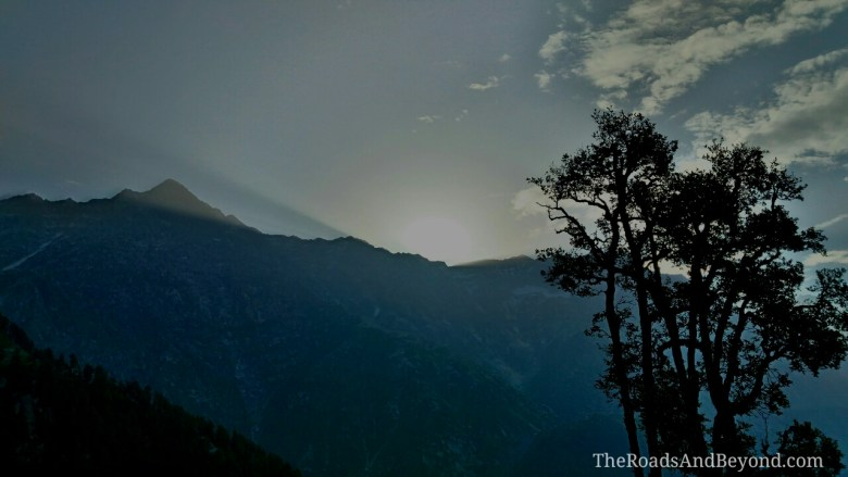 Triund sunrise image