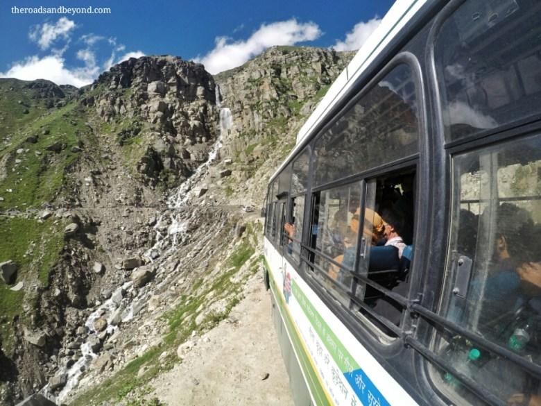 Manali to Kaza bus service